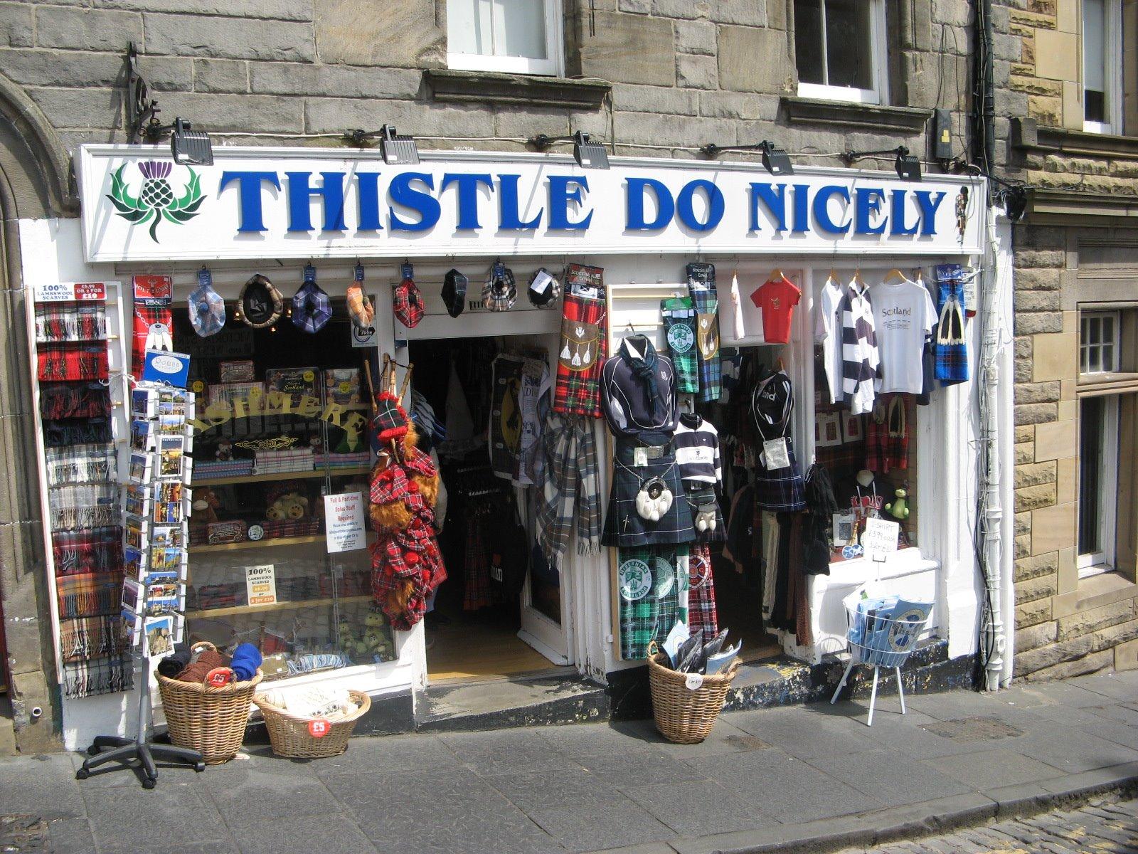 Independent List of fashion shops in edinburgh