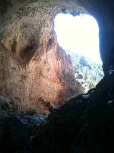 Inside the grotto at Tonto Natural Bridge