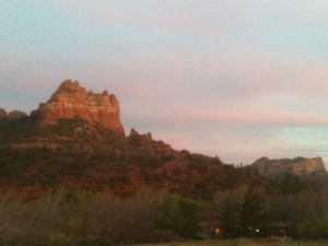 View from the ceramics studio in Sedona.