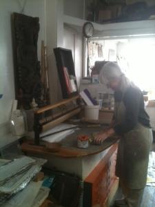 Jeneal Knapp in her studio.