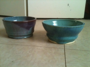 First glazed pots.
