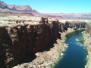 The Colorado River at Navajo Bridge, AZ